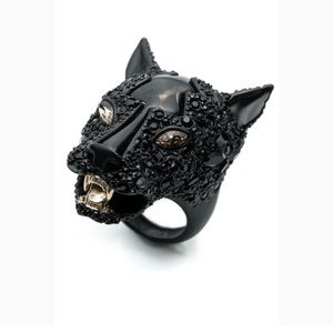 Alexis Bittar crystal panther ring